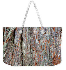 Weekender Tote Bag featuring the photograph Redwood Bark by Mark Duehmig