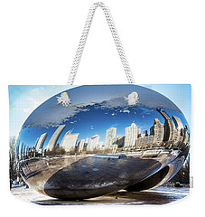 Reflecting Bean Weekender Tote Bag