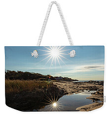 Reflections Of Autumn At The Beach Weekender Tote Bag
