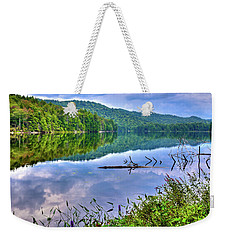 Weekender Tote Bag featuring the photograph Reflections On Sis Lake by David Patterson