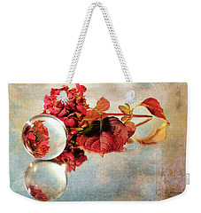 Weekender Tote Bag featuring the photograph Reflective Mood by Randi Grace Nilsberg