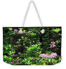 Weekender Tote Bag featuring the photograph Rhododendron Contrast by Leland D Howard
