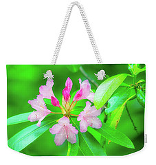 Weekender Tote Bag featuring the photograph Rhododendron by Leland D Howard