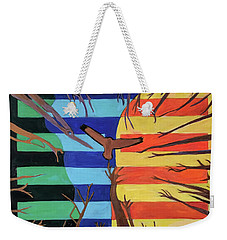 Weekender Tote Bag featuring the painting Riding The Wind by Denise Weaver Ross