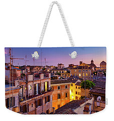Weekender Tote Bag featuring the photograph Rione Pigna's Rooftops by Fabrizio Troiani