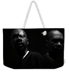 Weekender Tote Bag featuring the photograph Rivals. by Eric Christopher Jackson