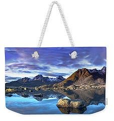 Rock Reflection Landscape Weekender Tote Bag