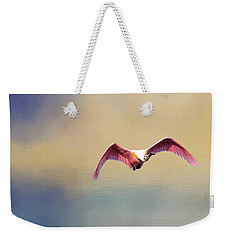 Roseate Spoonbill At Sunrise Weekender Tote Bag