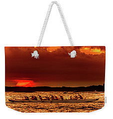 Rowing In The Sunset Weekender Tote Bag