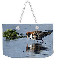 Weekender Tote Bag featuring the photograph Ruff 40407 by Rick Veldman