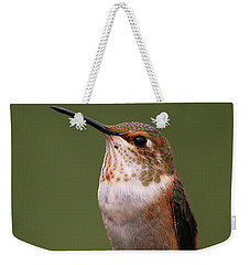 Weekender Tote Bag featuring the photograph Rufous Hummingbird by Sue Harper