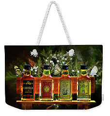 Weekender Tote Bag featuring the photograph Rum Rum And More Rum by Ericamaxine Price