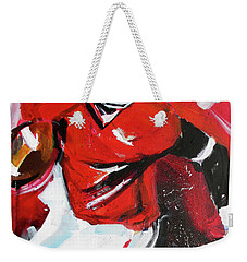 Weekender Tote Bag featuring the painting Run For It by John Jr Gholson