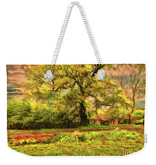 Weekender Tote Bag featuring the photograph Rural Rustic by Leigh Kemp