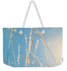 Weekender Tote Bag featuring the photograph Rural Sunflare by Dan Sproul