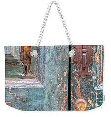 Rustic Green Door Of Cortona Weekender Tote Bag