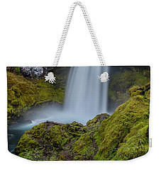 Weekender Tote Bag featuring the photograph Sahalie Falls, Autumn by Matthew Irvin