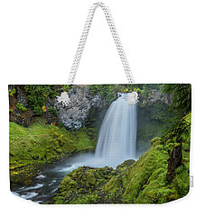 Weekender Tote Bag featuring the photograph Sahalie Falls, Summer by Matthew Irvin