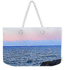 Weekender Tote Bag featuring the digital art Sail Boat by Lucia Sirna