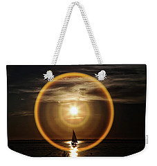 Sail In The Halo Weekender Tote Bag