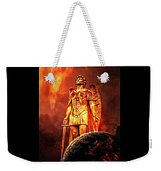 Weekender Tote Bag featuring the photograph Saint Michael by Michael Arend
