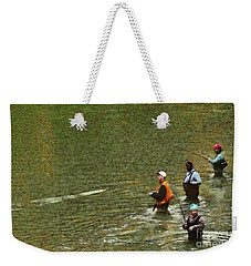 Weekender Tote Bag featuring the photograph Salmon Fishing Nisqually River by Susan Parish