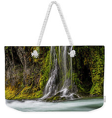 Weekender Tote Bag featuring the photograph Salt Creek Falls At Salmon Creek by Matthew Irvin
