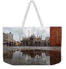 Weekender Tote Bag featuring the photograph San Marco Cathedral Venice Italy by Nathan Bush