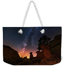 Weekender Tote Bag featuring the photograph Sanctuary by Tassanee Angiolillo