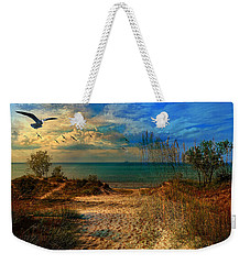 Sand Track To The Ocean At Dusk Weekender Tote Bag