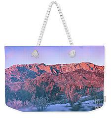 Sandia Mountain Sunset Weekender Tote Bag