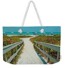 Sanibel Beach Umbrellas Weekender Tote Bag