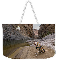 Weekender Tote Bag featuring the photograph Santa Elena Canyon by Matthew Irvin