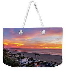 Santa Monica Pier Sunset - 11.1.18  Weekender Tote Bag