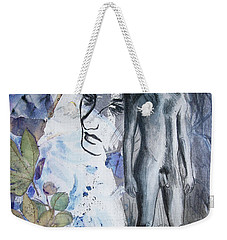 Weekender Tote Bag featuring the painting Savior Of Squirrels   by Rene Capone
