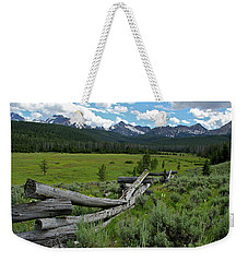 Sawtooth Range And 1975 Pole Fence Weekender Tote Bag