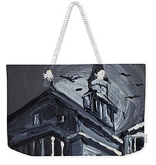 Weekender Tote Bag featuring the painting Scary Old House by Maria Langgle
