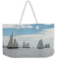 Weekender Tote Bag featuring the photograph Schooners On The Chesapeake Bay by Mark Duehmig