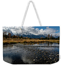 Weekender Tote Bag featuring the photograph Schwabacher Landing by Scott Read