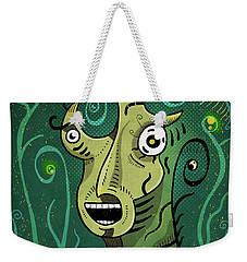Weekender Tote Bag featuring the digital art Scream by Sotuland Art