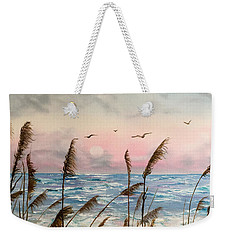 Sea Oats And Seagulls  Weekender Tote Bag