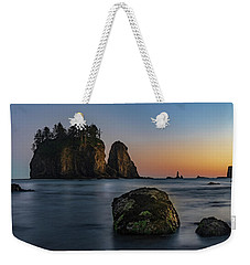 Weekender Tote Bag featuring the photograph Sea Stacks At La Push by Ed Clark