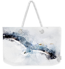 Seagull In Flight With Watercolor Effects Weekender Tote Bag