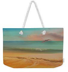 Seagulls Gather At Dusk Weekender Tote Bag