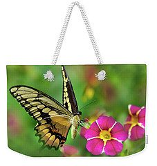 Weekender Tote Bag featuring the photograph Second Nature Butterfly by Christina Rollo
