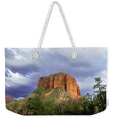 Weekender Tote Bag featuring the digital art Devil's Mountain by Christopher Meade