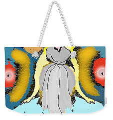 Weekender Tote Bag featuring the digital art Seeing Angels by James Fannin