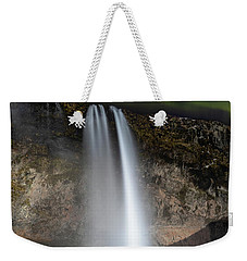 Weekender Tote Bag featuring the photograph Seljalandsfoss Northern Lights Silhouette by Nathan Bush