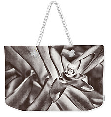 Weekender Tote Bag featuring the photograph Sensual Succulent I by Leda Robertson
