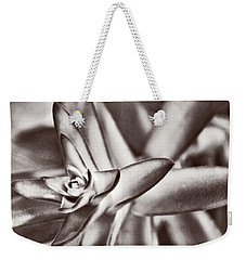 Weekender Tote Bag featuring the photograph Sensual Succulent II by Leda Robertson